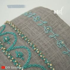 EMBROIDERY FOR BEGINNERS- You are in the right place about embroidery christmas Here we offer you the most beautiful pictures about the french knot embroidery you are looking for Diy Embroidery Shirt, Hand Embroidery Videos, Hand Embroidery Flowers, Embroidery Stitches Tutorial, Creative Embroidery, Sewing Stitches, Learn Embroidery, Embroidery For Beginners, Crewel Embroidery