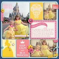 Disney Project Life page created by juliel featuring Project Mouse Princess by Sahlin Studio & Britt-ish Designs Vacation Scrapbook, Disney Scrapbook Pages, Wedding Scrapbook, Scrapbook Quotes, Project Life Scrapbook, Project Life Cards, Project Life Disney, Scrapbook Journal, Scrapbook Designs