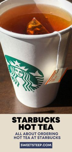 See all Starbucks hot tea drinks including brewed Teavana tea, as well as chai and matcha lattes. Also, see how to customize your hot tea order with syrups, milk and sweeteners. #starbucks #hot #tea #latte #best #drinks #orders #teavana #forcolds Starbucks Tea, How To Order Starbucks, London Fog Tea Latte, Matcha Green Tea Latte, Tea Drinks, English Breakfast Tea, Peppermint Tea, Brewing Tea, Tea Blends