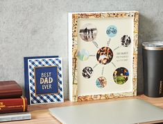DIY Moment: Photo Memory Box for Dad - Paper Source Blog Homemade Gifts, Diy Gifts, Diy Photo, Photo Ideas, Circle Punch, Paper Source, Photo Memories, Paper Decorations, Holiday Crafts