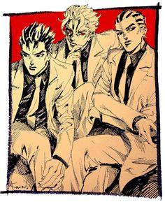 kiras - yoshikage kira - kosaku kawajiri - jjba - DIU - gud art - favorite characters