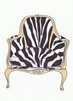 zebra favorite pattern. i would love a chair like this one day.