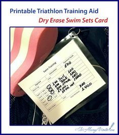 Swim Training, Triathlon Training, Card Workout, Free Printables, Swimming, Posts, Writing, Learning, Cards