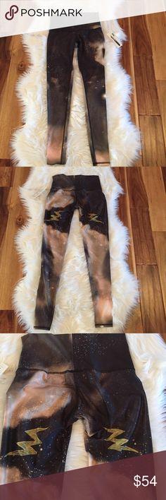 "Teeki Leggings NWT NWT Teeki  ""Electric Night"" hot pants... 79% recycled PET 21% Spandex... sorry, no trades.. size small Teeki Pants Leggings"