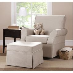 Kelcie Swivel Glider & Ottoman, Choose Your Color     This is the chair I have in Penelope's Nursery.  We LOVE it