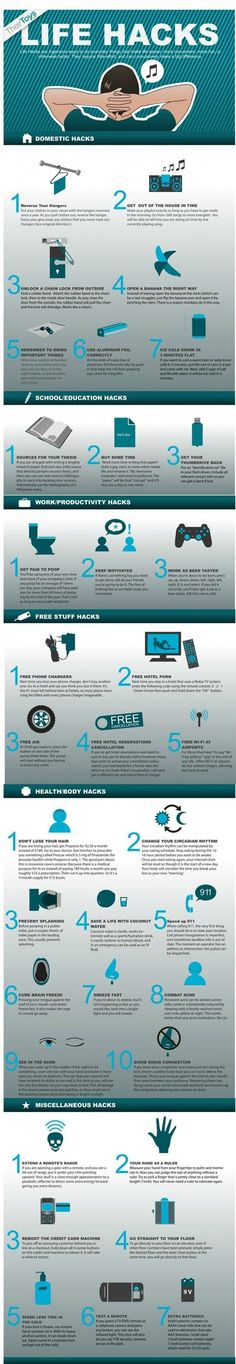 #LifeHacks #InfoGraphic, the way to get everyday things done a bit faster.