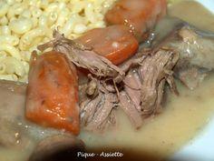 BLANQUETTE DE VEAU (Recettes en mijoteuse) - Pique - Assiette