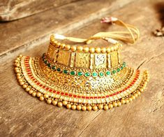 Sensible Black Base Gold Filled Indian New Style Chocker Necklace Earrings Pola Set Fashion Jewelry