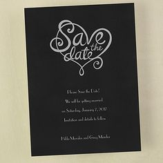 Heart - Save the Date - Wedding Ideas
