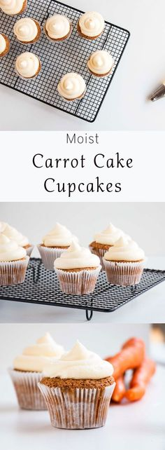 The most perfectly Moist Carrot Cake Cupcake recipe. Easy, fluffy, delicious and perfect for Easter. Topped off with soft cream cheese frosting. I love making this recipe for Easter mornings.