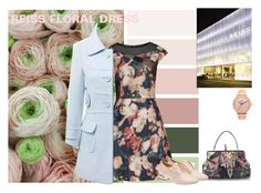 """Reiss Floral Dress"" by olenaf ❤ liked on Polyvore featuring JVL, Nixon and Miu Miu"