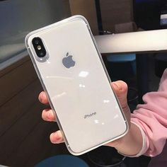 Anti-shock Frame Clear Transparent iPhone Case - White / iPhone XS