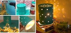 Diy con latas recicladas - Manualidades Love Craft, Frozen Party, Ideas Para, Candle Jars, Diy And Crafts, Projects To Try, Creative, Handmade, Lucca