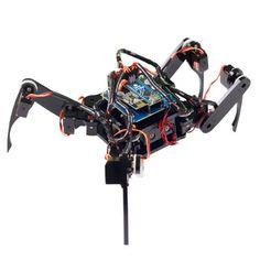 Una descrizione di SunFounder Crawling Quadruped Robot DIY Kit for Arduino with Nano Board Remote Control, una grande scelta per l'apprendimento dell'elettronica per la robotica e la programmazione di Arduino.