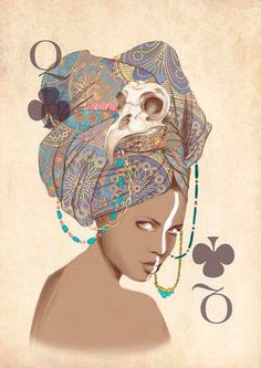 Queen of Clubs...the card of high intuition, knowledge, and mental balance.