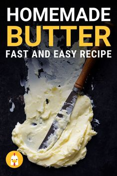 Making homemade butter is quick and easy with just a two ingredients. Heavy cream, a pinch of salt, and a little muscle you can have homemade butter quickly #recipe #butter #homesteadrecipe #diyrecipe #thecourageouschicken