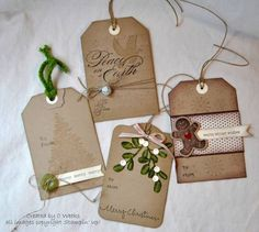 Vintage inspired Christmas tags by Weekend Warrior - Cards and Paper Crafts at Splitcoaststampers