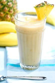 Banana, pina colada Smoothie:  1/2   Chiquita Banana  1   pkg. Chiquita Pineapple Bites™  1/3   cup coconut milk.  Disappointed. I like a thicker smoothie and not very pineapple-ly.  I am going to freeze some crushed pineapple in 1/2C portions and see if that helps.  It did. Much better.