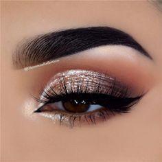 14 Shimmer Eye Makeup Ideas for Stunning Eyes - - 14 Shimmer Eye Makeup Ideas for Stunning Eyes Beauty Makeup Hacks Ideas Wedding Makeup Looks for Women M. Makeup Hacks, Makeup Goals, Makeup Inspo, Makeup Inspiration, Beauty Makeup, Makeup Ideas, Beauty Tips, Makeup Tutorials, Eyebrow Makeup