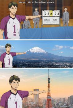 Hello, I'm your tour guide, Ushijima Wakatoshi. You should've come to Shiratorizawa