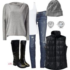 """Cool weather"" by coombsie24 on Polyvore I'll pass on the hat though...hat head and I don't mix."