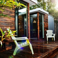 Prefab House, Sett Studio | $15K | fully customizable, modular homes made of sustainably harvested longleaf pine; designs start: $150/sq ft, min 100; std feat incl SIP mounted on skids for portability, insulated walls, charred-wood siding w/vapor barrier, water&ice-shielded roofing, aluminum dbl-pane glass windows, sliding glass doors, drywall walls/ceiling, bamboo flooring, electrical wiring, poly-tuff roof coating/metal roofing; variety of wood finishes.