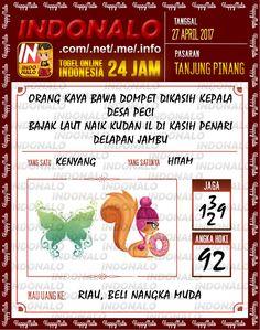 Syair Kuat 2D Togel Wap Online Indonalo Tanjung Pinang 27 April 2017