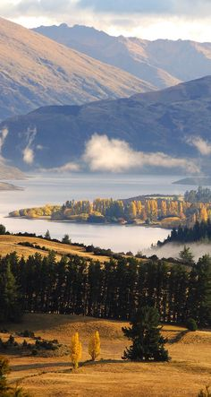 Dublin Bay, Lake Wanaka from Mt. Iron - NZ