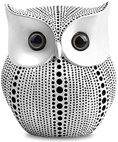 APPS2Car Crafted Owl Statue Decoration Small Animal Figurines for Home Decor, BFF for Owl Bird Lovers, Living Room Bedroom Office Decoration - White Bird Statues, Animal Statues, Animal Sculptures, White Office Decor, Black Decor, Echo Dot Accessories, Eames, Tv Stand Decor, Bed In Living Room