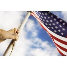 Raising An American Flag Canvas Art - Chris and Kate Knorr Design Pics (18 x 12)