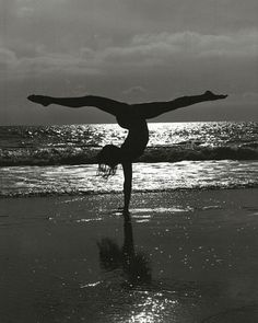 acrobatics on the beach # beach #exercise @Gail Regan Truax://mixyourlife.tumblr.com/post/11660819006/every-day-may-not-be-good-but-theres