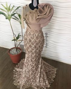 Style Inspiration by Lace Dress Styles, African Lace Dresses, Latest African Fashion Dresses, African Print Fashion, African Wedding Attire, African Attire, Dinner Gowns, Evening Dresses, Prom Gowns