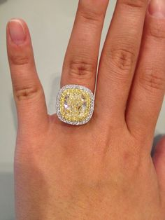 Immediate Payments For Preowned Authentic Luxury! Yellow Diamond Engagement Ring, Diamond Wedding Bands, Wedding Rings, Celebrity Engagement Rings, Vintage Engagement Rings, Colored Diamond Rings, Coloured Diamonds, Canary Diamond, Yellow Jewelry