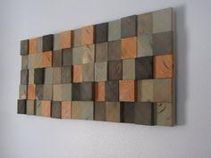 Modern FIR 3D Wood Block Wall Art / Wall by HeartlandWoodshop, $289.99