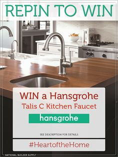 **This giveaway is now closed. Congratulations to our winner!**  Win a luxury Hansgrohe Talis C kitchen faucet! Giveaway ends 10/30/13. Good luck! Enter now: http://sdqk.me/qDeutlgT