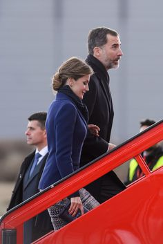 PRINCESS MONARCHY - King Felipe VI and Queen Létizia were received late morning invalids by the Prime Minister Manuel Valls and the royal couple joined The Elysee Palace hosted by President Francois Hollande.     The King and Queen have canceled their state visit after the crash of Flight Barcelona-Dusseldorf.