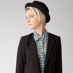 Shop for blazers with skinny lapels. | 19 Ways To Rock Androgynous Style Like No Other