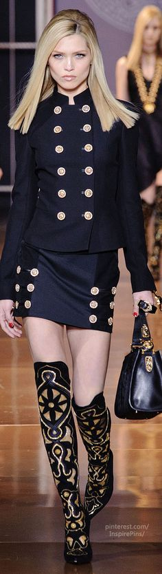 Versace FW2014 Collection Women's Fashion RTW | Purely Inspiration