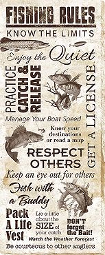 Fishing Rules Wrapped Canvas