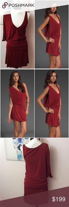 Haute Hippie Cowl Sleeve Dress Brand new without tags Haute Hippie Crimson Red Cowl sleeve dress. Haute Hippie Dresses Mini