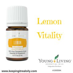 Lemon Vitality, Young Living essential oils, use in food, water, baking