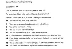 IELTS Book 9, General Training reading test 1, questions 7-14 Ielts Reading, Reading Test, Reading Practice, Different Exercises, Training, Lettering, This Or That Questions, Books, Libros