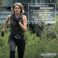 What are you waiting for? Go see #Allegiant NOW!