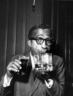 Sammy. Buddy Holly wasn't the only one to totally own the thick-rimmed glasses. (I remember him wearing an eyepatch for years, then the glasses.)