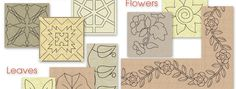 off Printable Quilting Designs from The Quiltmakers Collection Vol 5 Quilting Templates, Quilting Designs, Longarm Quilting, Free Motion Quilting, Electric Quilt, Beads Tutorial, Whole Cloth Quilts, Drawing Practice, Beading Tutorials