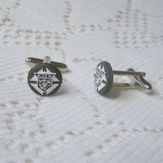 Knights of Columbus Cuff Links   K of C  by SouthernBelleOOAK, / For more beauty in your life ♥ Visit www.glueckstueck.com and be a Fan: www.facebook.com/glueckstueck
