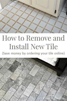 We did this bathroom renovation and saved a ton of money by ordering tile online see how we did it!