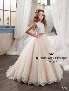 Cappuccino Kingdom Boutique children's gowns for special events.Sleeping Beauty : Dress 16-1558 - kingdom.boutique  Children's Wedding Dresses Flower Girl Dresses Pageant dress