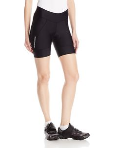 Louis Garneau Women s Ride Gel Cycling Shorts Tequila multi-d Chamois Power  band at thigh Reflective trim Elasticized waist band with drawstring 9 inch  ... 6bef8e47dd