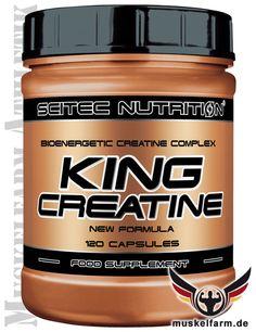 Scitec Nutrition King Creatin enthält konzentriertes Creatine-Citrat, -Phosphat und Creatin Monohydrate, gute Löslichkeit und hervorragende Aufnahme.